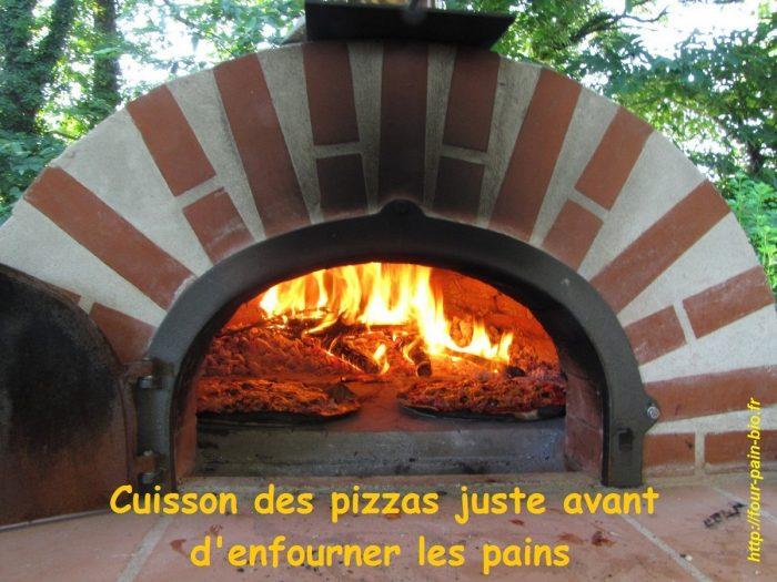 cuisson des pizzas